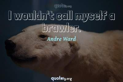 Photo Quote of I wouldn't call myself a brawler.