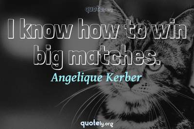 Photo Quote of I know how to win big matches.