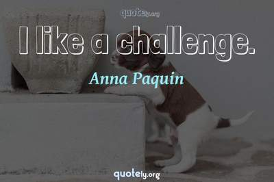 Photo Quote of I like a challenge.