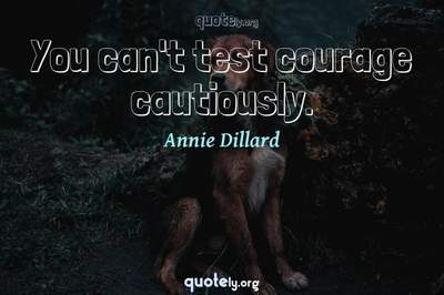 Photo Quote of You can't test courage cautiously.