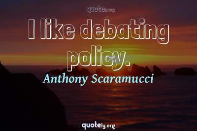 Photo Quote of I like debating policy.
