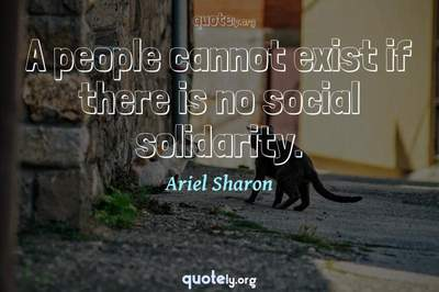Photo Quote of A people cannot exist if there is no social solidarity.