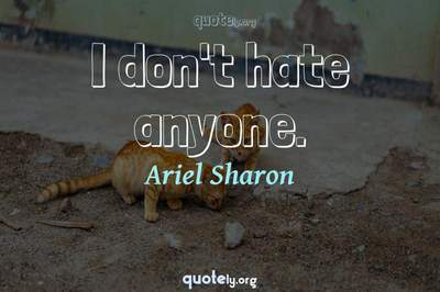 Photo Quote of I don't hate anyone.