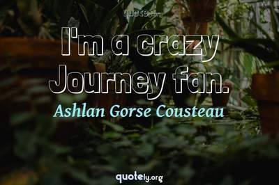 Photo Quote of I'm a crazy Journey fan.