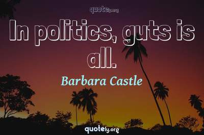 Photo Quote of In politics, guts is all.