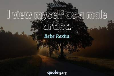 Photo Quote of I view myself as a male artist.
