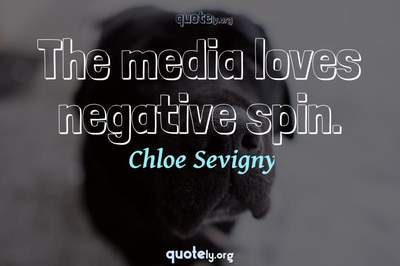Photo Quote of The media loves negative spin.