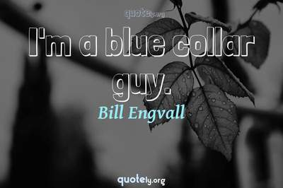 Photo Quote of I'm a blue collar guy.