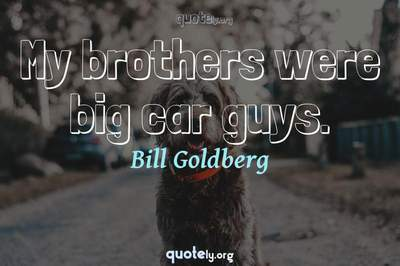 Photo Quote of My brothers were big car guys.