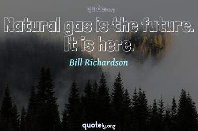 Photo Quote of Natural gas is the future. It is here.