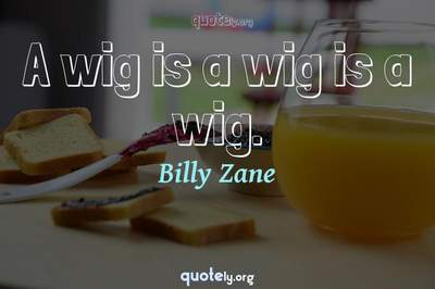 Photo Quote of A wig is a wig is a wig.