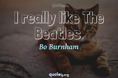 Photo Quote of I really like The Beatles.
