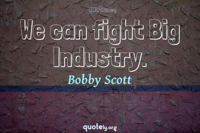 Photo Quote of We can fight Big Industry.