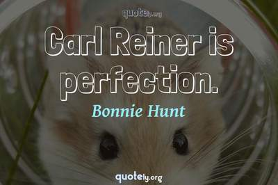 Photo Quote of Carl Reiner is perfection.