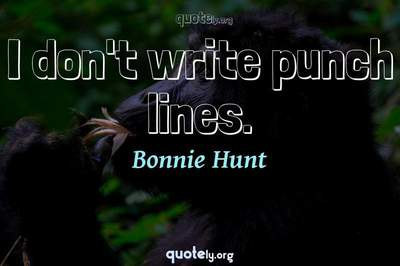 Photo Quote of I don't write punch lines.