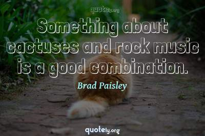 Photo Quote of Something about cactuses and rock music is a good combination.