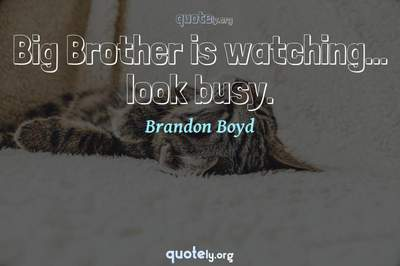 Photo Quote of Big Brother is watching... look busy.
