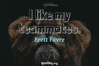 Photo Quote of I like my teammates.