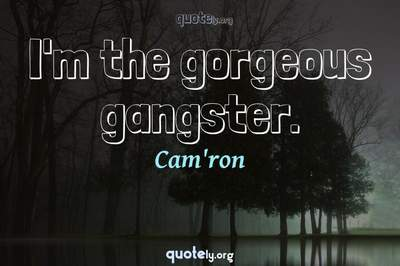 Photo Quote of I'm the gorgeous gangster.