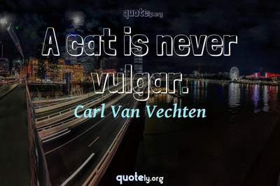Photo Quote of A cat is never vulgar.