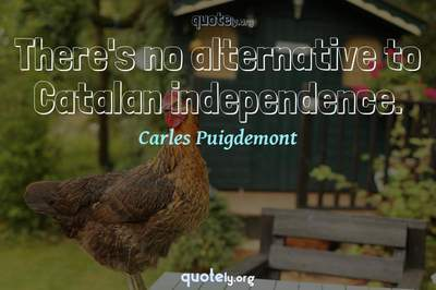 Photo Quote of There's no alternative to Catalan independence.