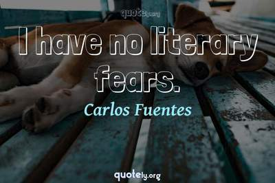 Photo Quote of I have no literary fears.