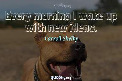 Photo Quote of Every morning I wake up with new ideas.