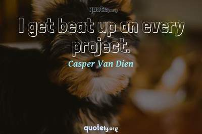 Photo Quote of I get beat up on every project.