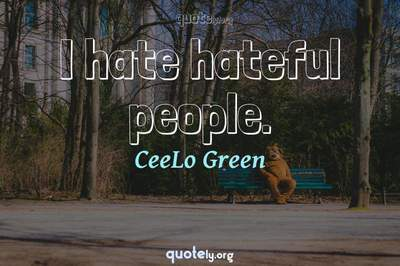 Photo Quote of I hate hateful people.