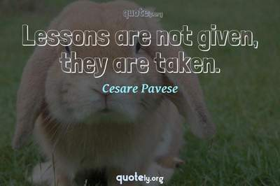Photo Quote of Lessons are not given, they are taken.