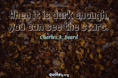 Photo Quote of When it is dark enough, you can see the stars.