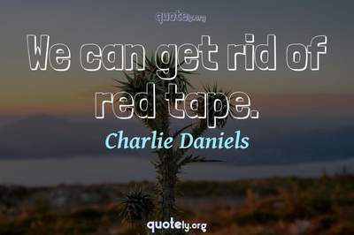 Photo Quote of We can get rid of red tape.