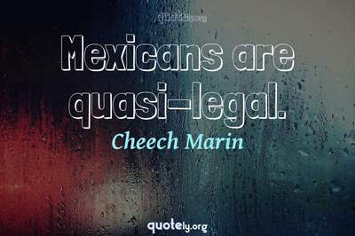 Photo Quote of Mexicans are quasi-legal.