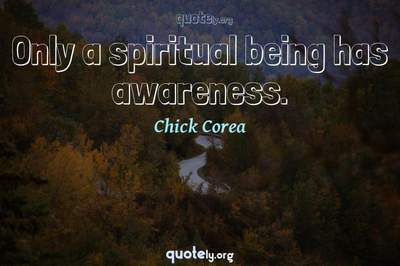 Photo Quote of Only a spiritual being has awareness.