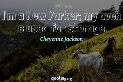Photo Quote of I'm a New Yorker; my oven is used for storage.