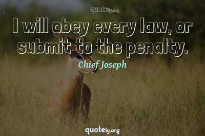 Photo Quote of I will obey every law, or submit to the penalty.