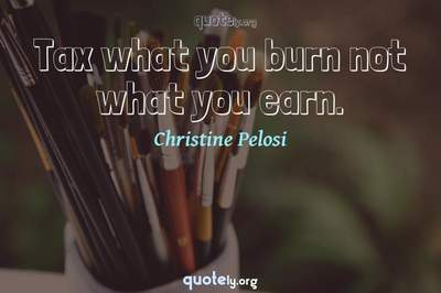 Photo Quote of Tax what you burn not what you earn.