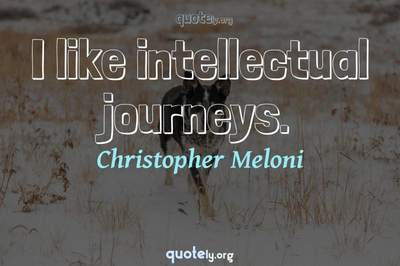 Photo Quote of I like intellectual journeys.