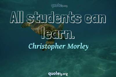 Photo Quote of All students can learn.
