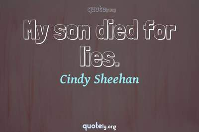 Photo Quote of My son died for lies.