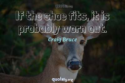 Photo Quote of If the shoe fits, it is probably worn out.