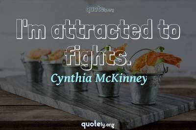 Photo Quote of I'm attracted to fights.
