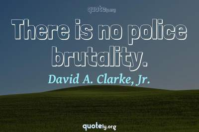 Photo Quote of There is no police brutality.