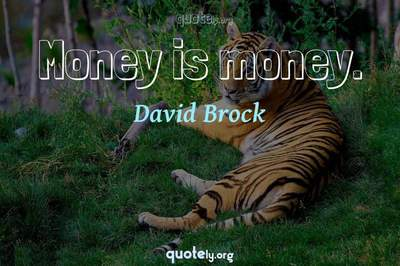 Photo Quote of Money is money.