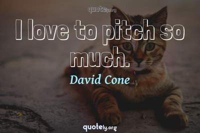 Photo Quote of I love to pitch so much.