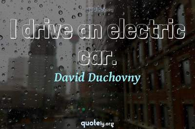 Photo Quote of I drive an electric car.