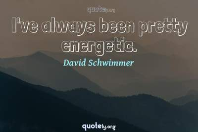Photo Quote of I've always been pretty energetic.