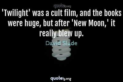 Photo Quote of 'Twilight' was a cult film, and the books were huge, but after 'New Moon,' it really blew up.
