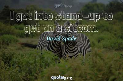 Photo Quote of I got into stand-up to get on a sitcom.