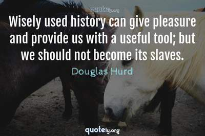 Photo Quote of Wisely used history can give pleasure and provide us with a useful tool; but we should not become its slaves.